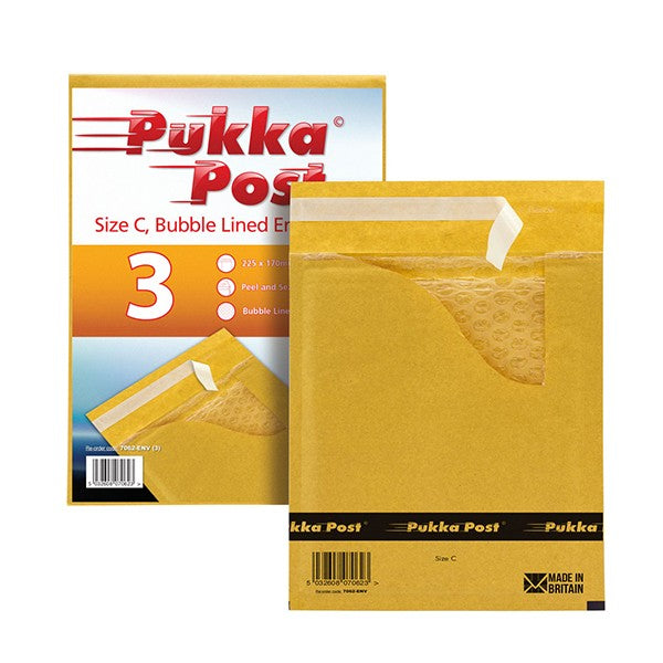 Size C Padded Envelopes Peel & Seal (Pack of 10)