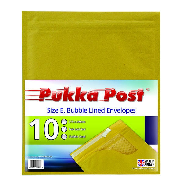 Size E Padded Envelopes Peel & Seal (Pack of 10)
