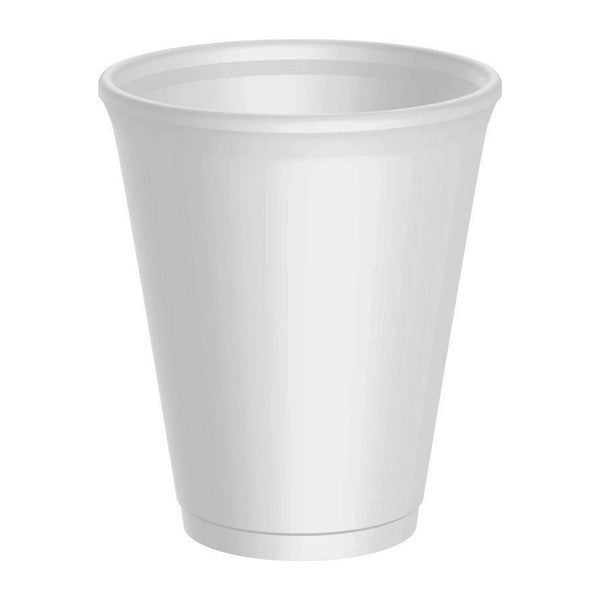12oz Foam Insulated White Cups (Pack of 20)