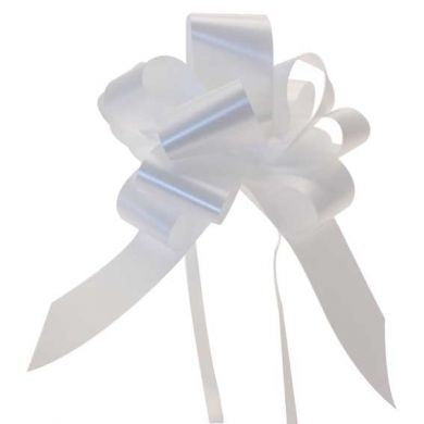 White 31mm Pull Bows (Box of 30)