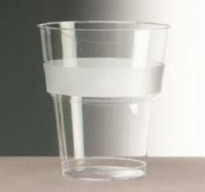 11oz Plastic Airline Styrene Tumblers Clear Cups (Pack of 30)