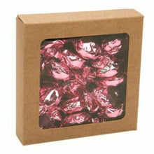 "Load image into Gallery viewer, Square Brown Kraft Window Box 8"" x 8"" x 1.5"" Tray Bake Box"
