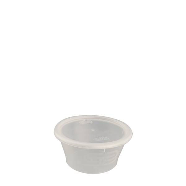 2oz Round Heavy Duty Plastic Containers (Pack of 50pcs)
