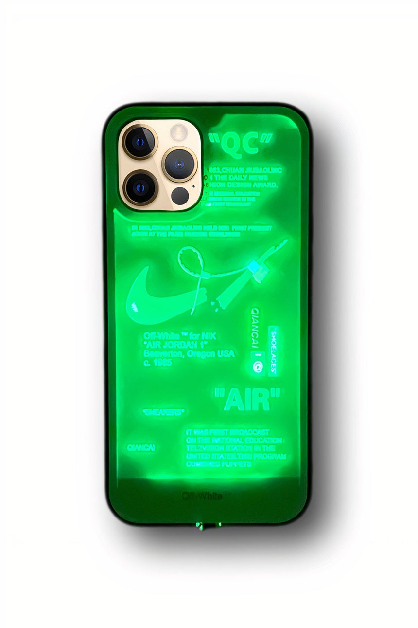 Offwhite LED Light-Up iPhone Smart Case - LeftLamp