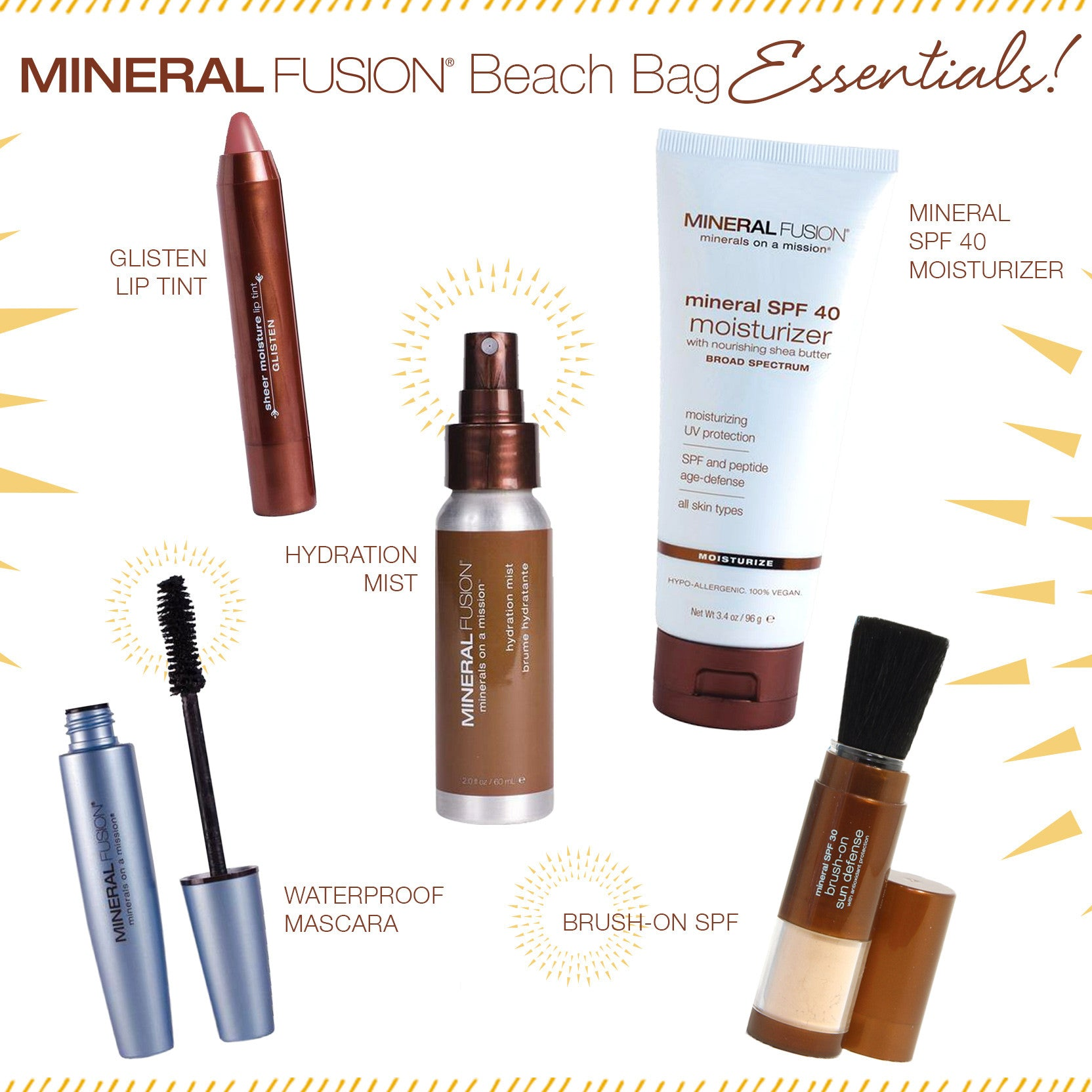 Mineral Fusion SPF Beach Bag Essentials