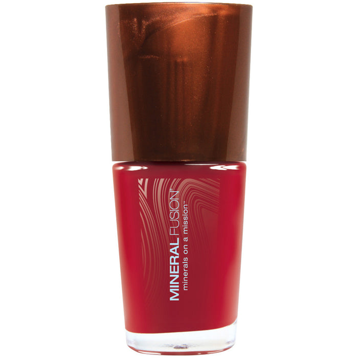 Crimson Clay Dark Red Vegan Cream Finish Nail Polish