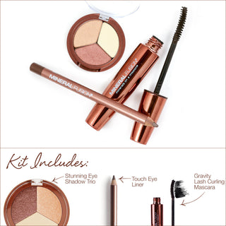 Eye Kit - Eye Shadow Trio, Touch Eye Liner, Curing Mascara
