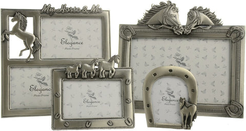 pewter coloured photo frames