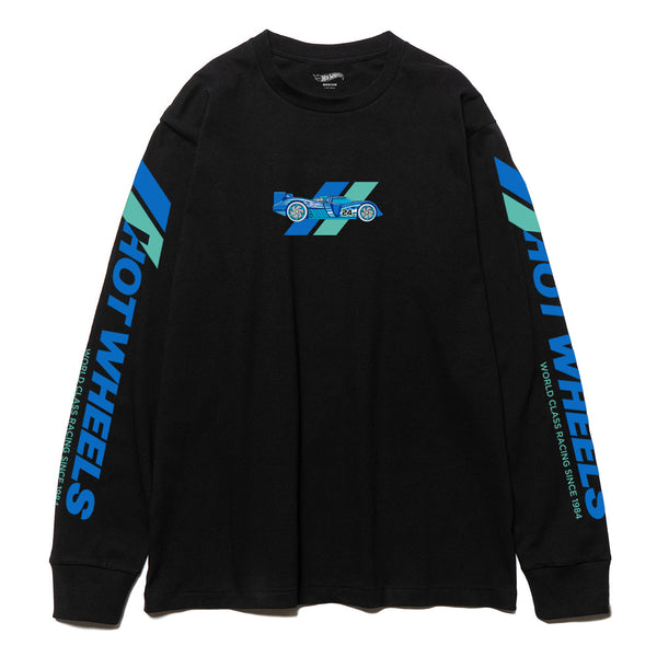 Black Team Racing Long Sleeve T-shirt