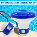Premier Blue Floating Chlorine or Bromine Dispenser for Pools Spas and Hot tubs