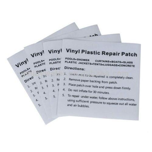 Premier Blue Heavy Duty Vinyl Plastic Puncture Repair Kit Patches for Pools Spas and Hot Tubs