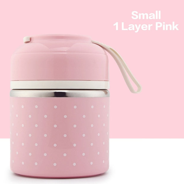 Stainless Steel Cute Lunch Box For Kids - Mahina-shop
