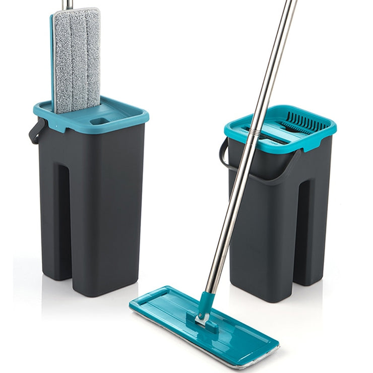 Flat Squeeze Mop and Bucket Hand - Mahina-shop