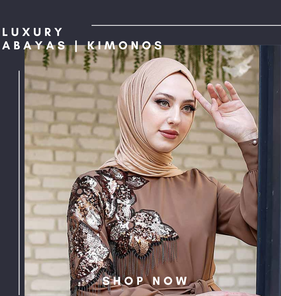 Our collection of Abayas and Kimonos are versatile and pair with denim jeans or trousers that can keep the look casual to run your daily errands or whether you're looking forward to a casual office outing, dinner party, or just excited for your next beach