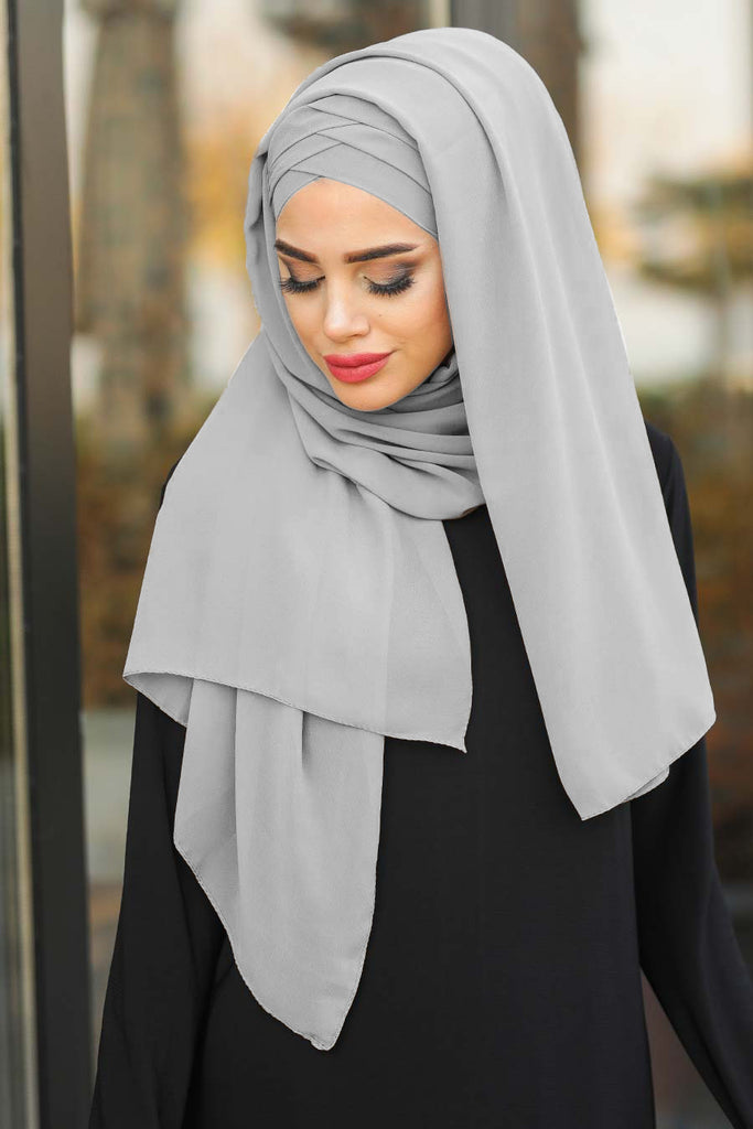 The elasticity of the material enables strength and durability. The lightweight fabric drapes well and gives the desired look. Get ready with your hijab in minutes, just tie it at the back of your head and drape the rest.