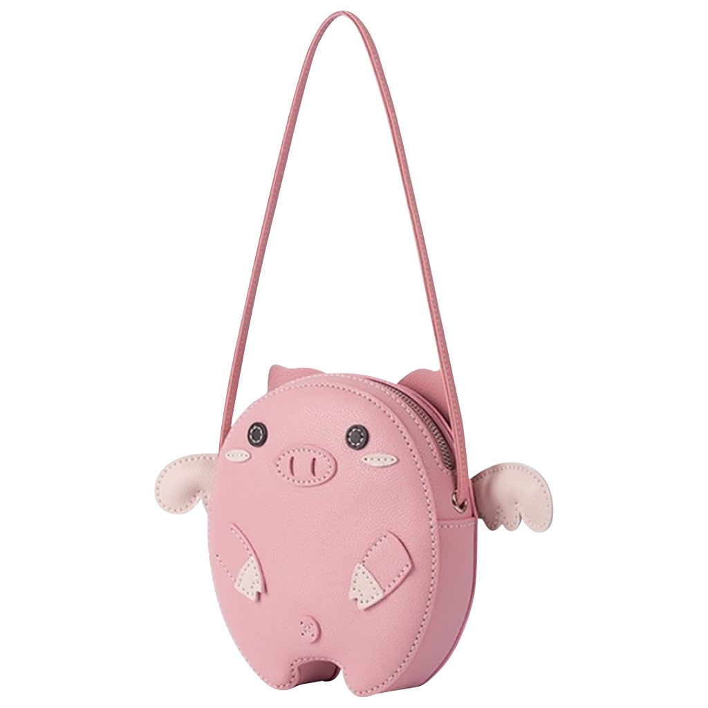 Tote Bags For Women Ladies Fashion Novelty Cute Pig Pattern Innovation Diy Material Kit Homemade Cartoon Pigg Bag