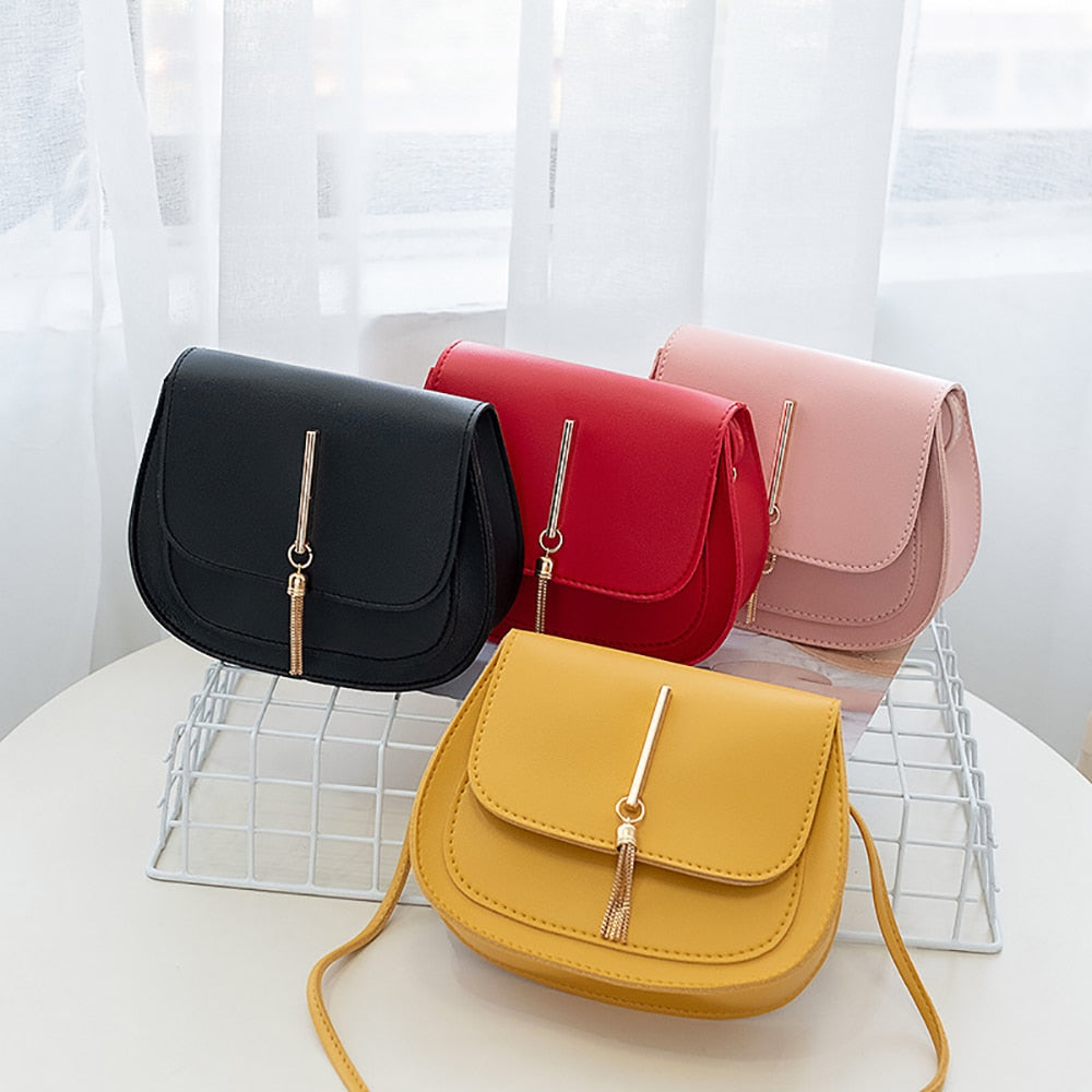 Women's Summer Shoulder Bag PU Leather Ladies Messenger Bag Female Pure Color Small Square Bag Clutch Bags