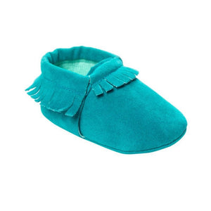 Newborn Toddler Infant Boys Girls Tassel Shoes Toddler Soft Sole Coral Velvet Baby Moccasins Shoes Baby Crib Shoes