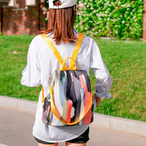 Women Nylon Zipper Fashion Large Capacity Backpack Waterproof Travel Bags Schoolbag Anti-theft Bag Student School Shoulder Bag