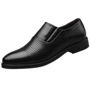 Men Formal Shoes New  Business Dress Wedding Pointed Toe Fashion PU Leather Shoes Flats Oxford Shoes For Men