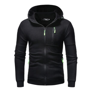 Winter Hoodies Zip Men's Splice Cap With Long Sleeve Tops Sweatshirts Autumn Winter Man Hoodies Outwear Sudadera Hombre Hoodies