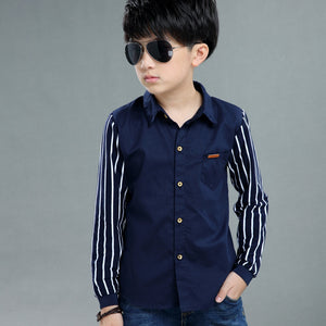 Teen Baby Kids Boy Clothing Set Fashion Long Sleeve Stripe Casual Clothes Gentleman Geometric T-shirt Tops Clothes 116