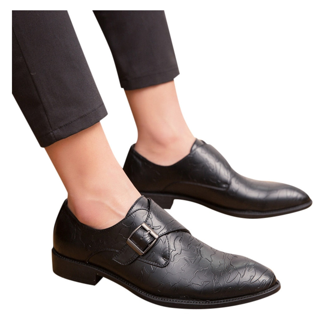 High Quality Handmade Leather Shoes Men Slip-On Dress Shoes For Formal Party Wedding  Footwear Flat Big Size Leather Shoe