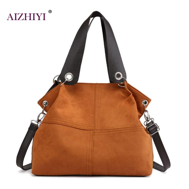 Top-handle Bags women shoulder bag female large tote soft Corduroy leather crossbody messenger bag for women