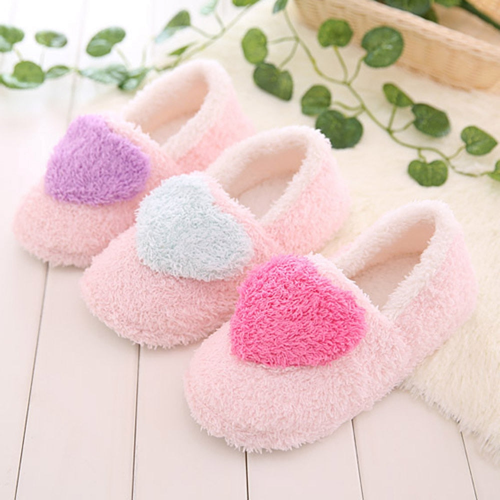 Women's Slippers Lovely Ladies Winter Warm Home Slipper Floor Soft Plush Women Indoor Slippers Outsole Cotton-padded Shoes Woman