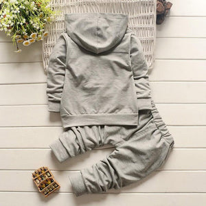 2PCS  Toddler Baby Winter clothes Boy Style Letter Print Hood Tops Pattern Pants Set Clothes cool Fashion style