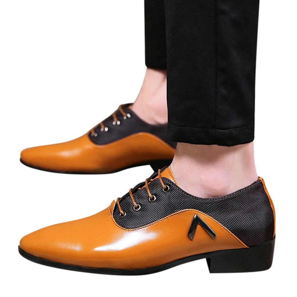 Men'S Dress Shoes Fashion Pu Leather Shoes Men Brands Wedding Oxford Shoes For Men'S Breathable Men Formal Footwear