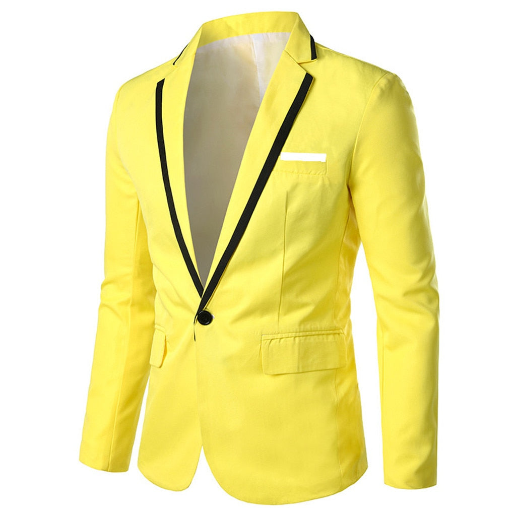 men's blazers and suit jackets Men's Stylish Casual Solid Blazer Business Wedding Party Outwear Coat Suit Tops