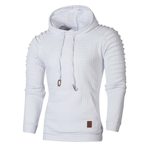 Men's Long Sleeve Patchwork Hoodie Hooded Sweatshirt Top Tee Outwear Autumn Winter Fashion Sports Hooded Sweatshirt