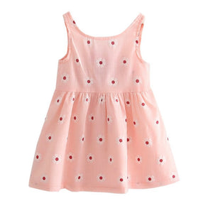Cotton Baby Girls Vest Dress Kids Sundress Princess Shirt Dresses New