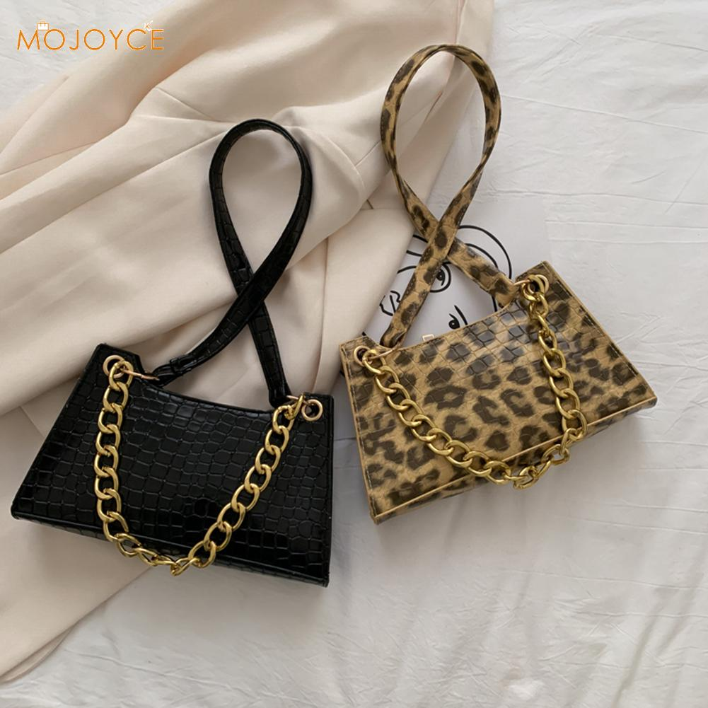Fashion Animal Pattern Handbag Totes Women Chain Underarm Shoulder Bags Vintage Female PU Leather Travel Street Clutches Purse