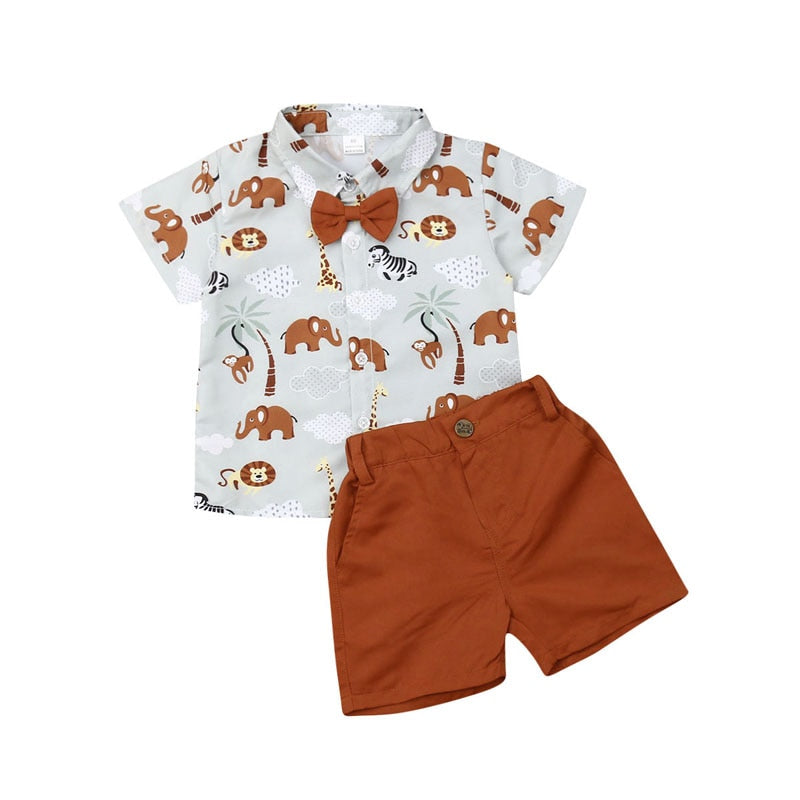 Toddler Baby Kids Boy 1-6T Formal Clothing Set Shirt Tops+Pants Gentleman Outfits Clothes 2PCS Set