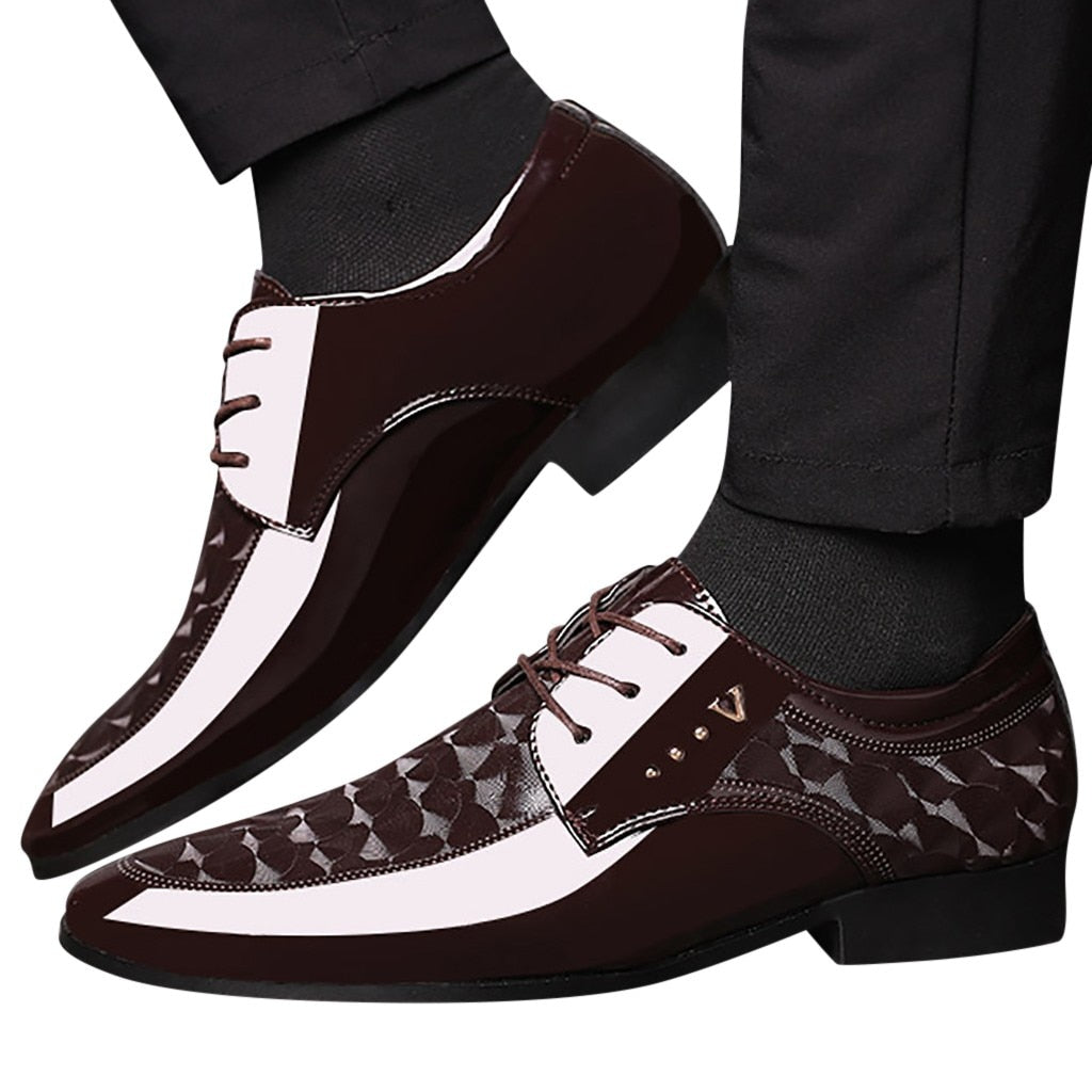 KANCOOLD Fashion Business Dress Men Shoes New Classic Leather pointed toe Shoes Fashion Lace-Up Dress Shoes Men Oxfords 38-47