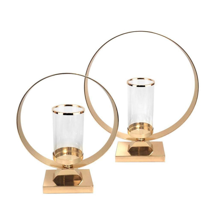 Hurricane Candle Holder on Metal Stand