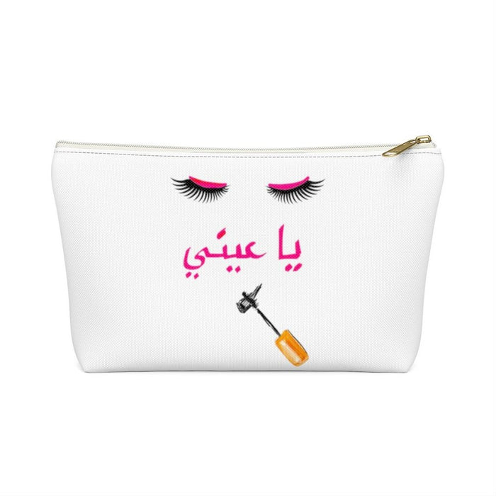 "White Eyelash ""Oo La La"" Accessory Pouch"