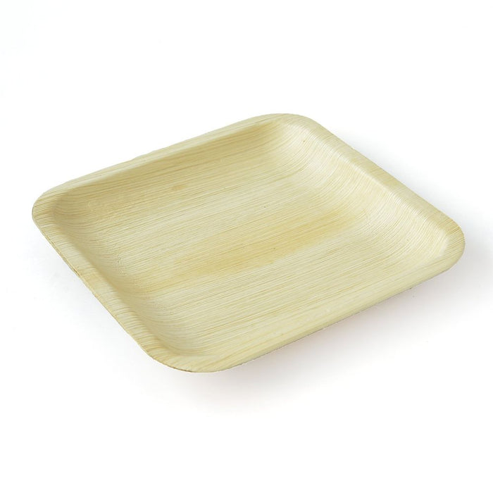 "Palm Leaf Plates Square 8"" Inch (Set of 100/50/25)"