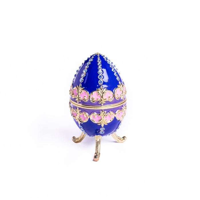 Blue Decorated Faberge Egg