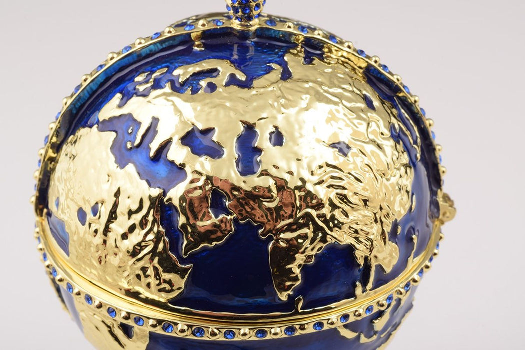 Globe Faberge Egg with Sailing ship