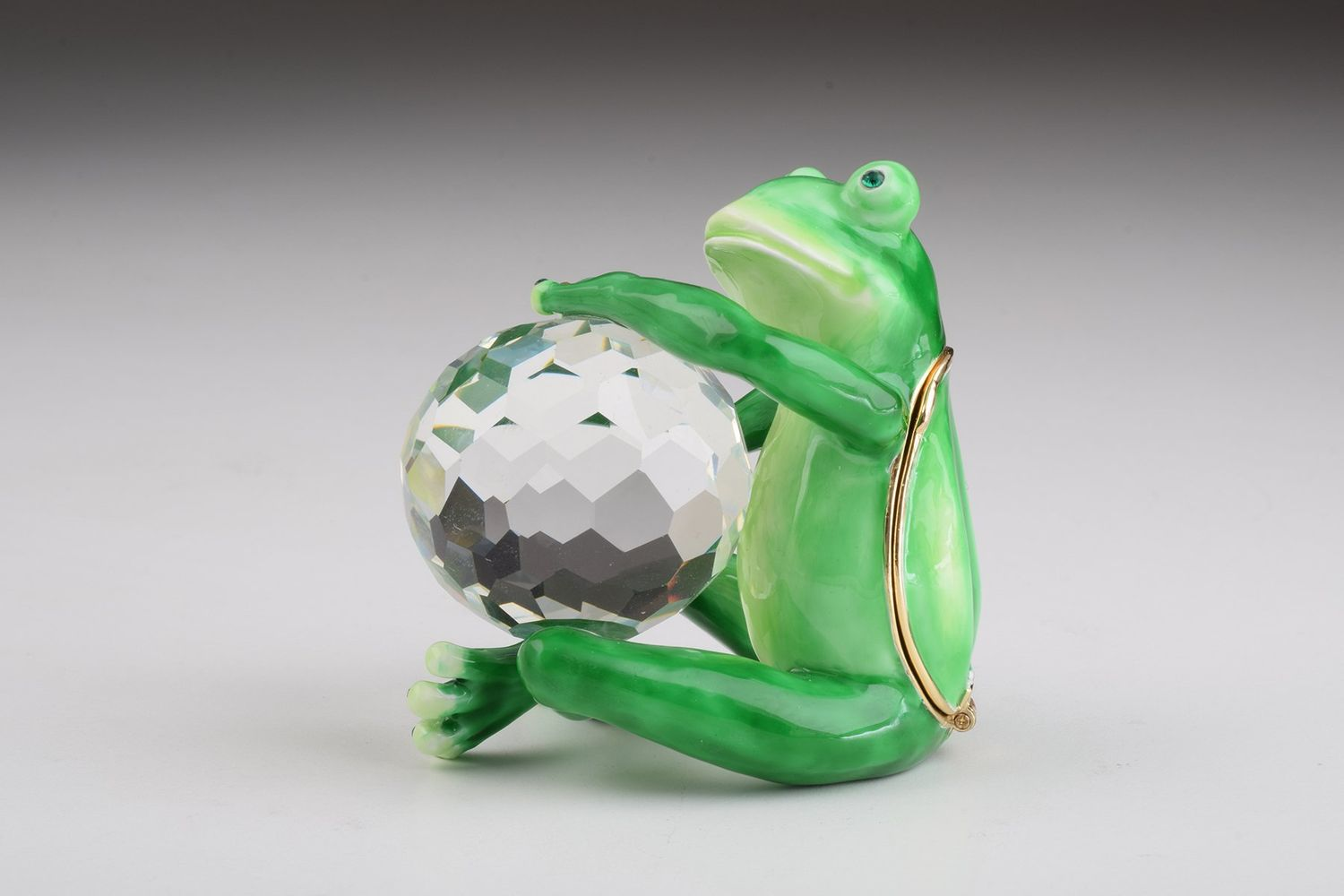 Green Frog with Crystal Ball