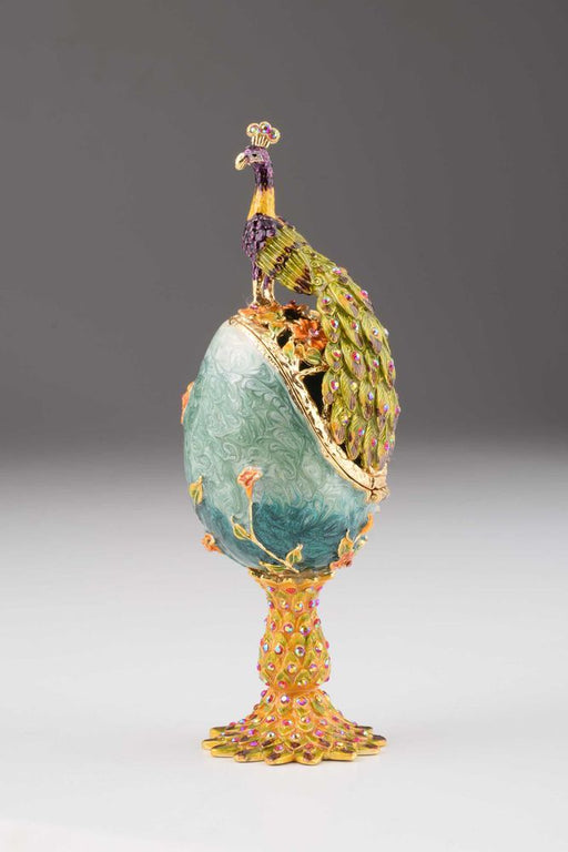 Peacock on a Faberge Egg
