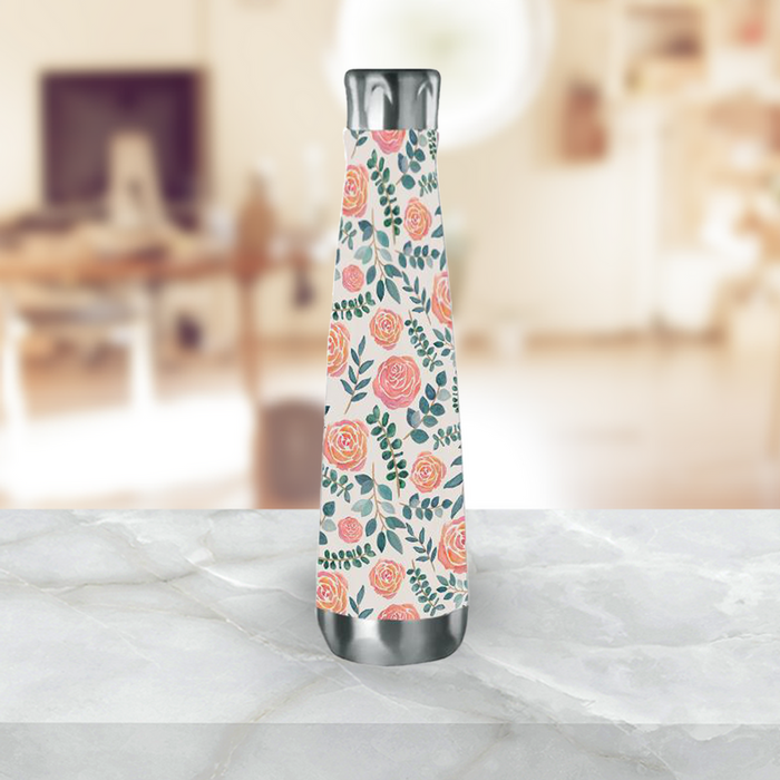 Watercolor Floral Water Bottle