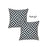 "Geometric Black Diagram Square 18"" Throw Pillow Cover (Set of 2)"
