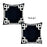 Geometric Black&White Square Decorative Throw Pillow Cover (Set of 2)
