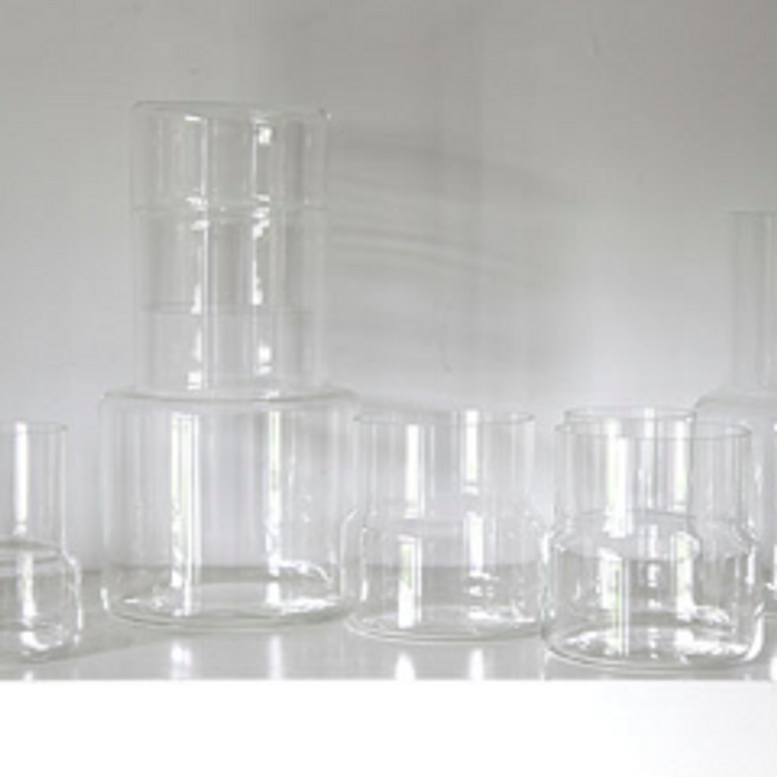 HAND-BLOWN DRINKING GLASSES - LINJE- two sizes - set of 2