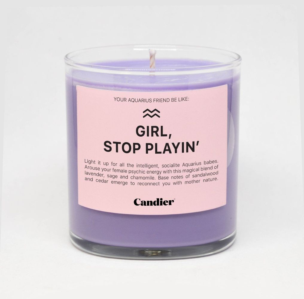 AQUARIUS ZODIAC CANDLE