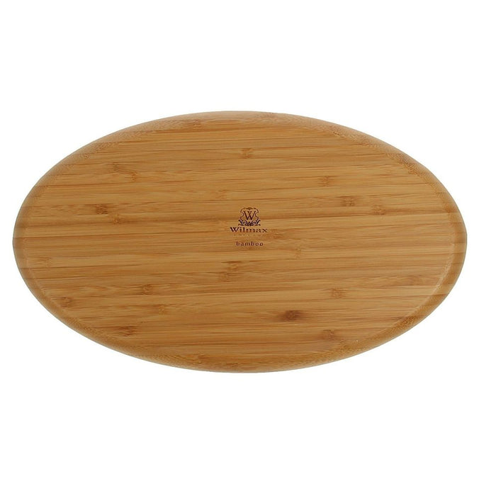 "[A] Natural Bamboo 3 Section Platter 14"" X 8"" 